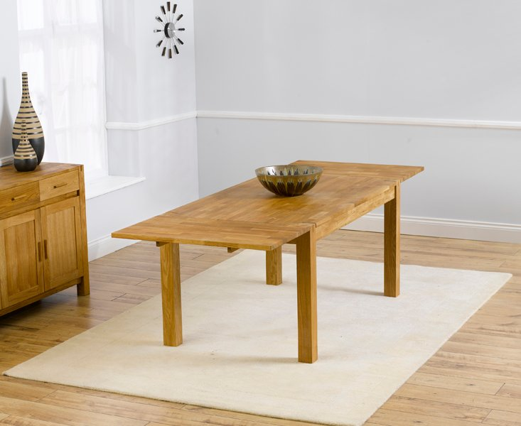 Photo of Verona 150cm solid oak extending dining table