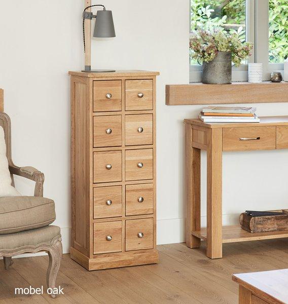 Photo of Mobel solid oak multi-drawer storage chest
