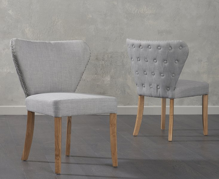 Photo of Imogen grey fabric dining chairs -pairs-