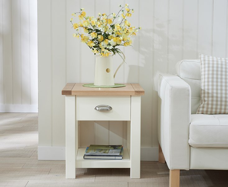 Photo of Somerset oak and cream side table