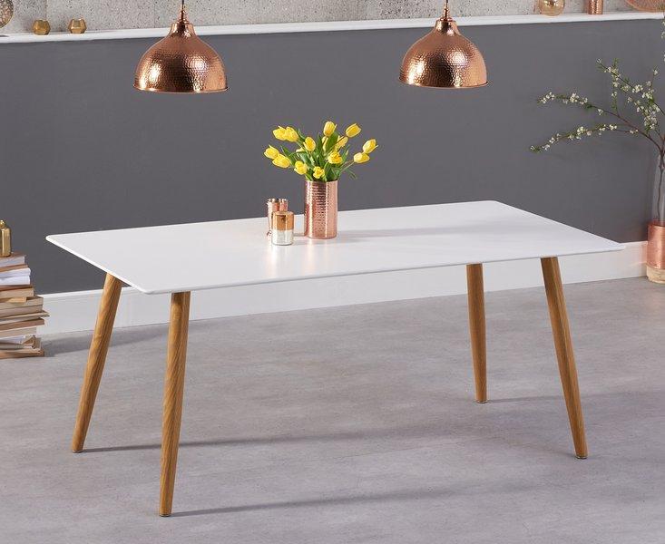 Photo of Maida vale 180cm matt white dining table