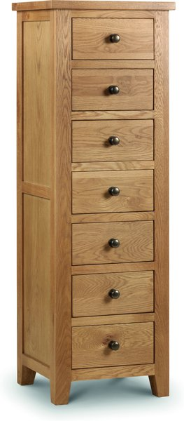 Photo of Marlborough oak tall 7 drawer chest