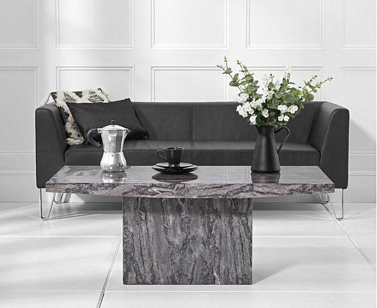 Photo of Crema grey marble coffee table