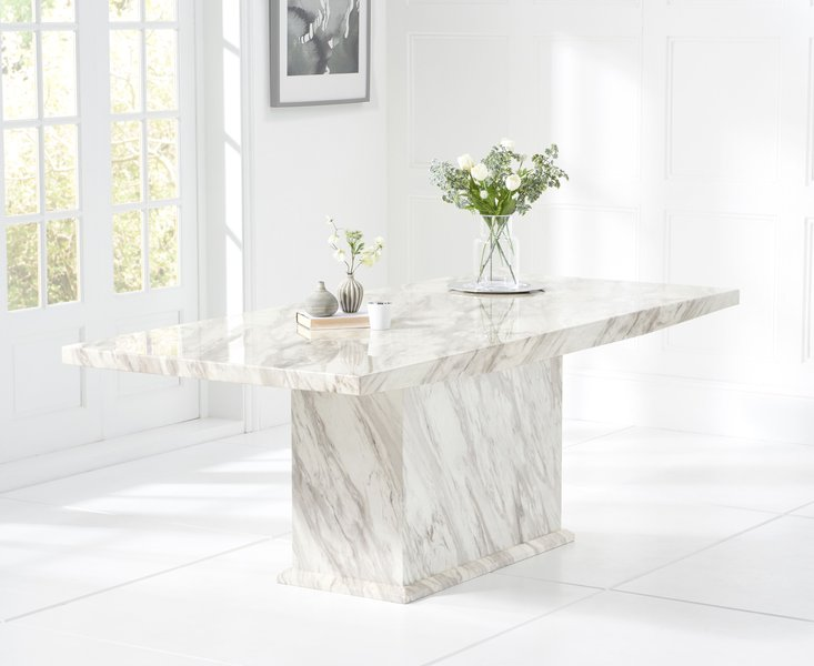 Photo of Calacatta 220cm marble effect dining table
