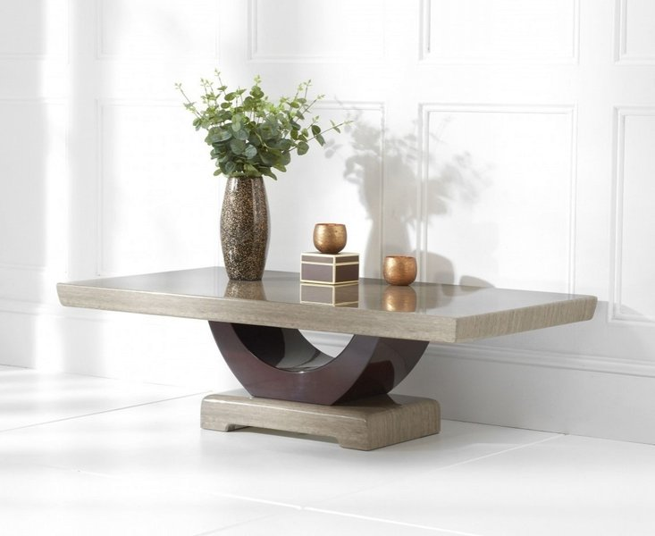 Photo of Raphael brown marble coffee table
