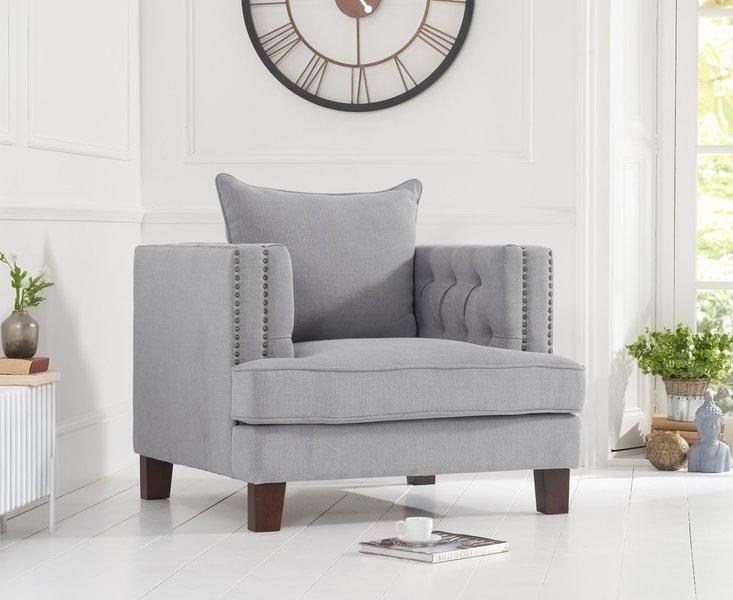 Photo of Cava grey linen armchair