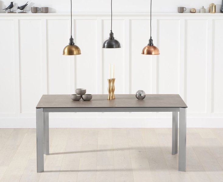 Photo of Antonia 170m brown italian ceramic dining table