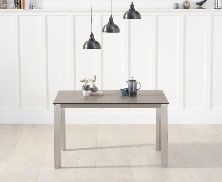 Photo of Antonia 130cm brown italian ceramic dining table