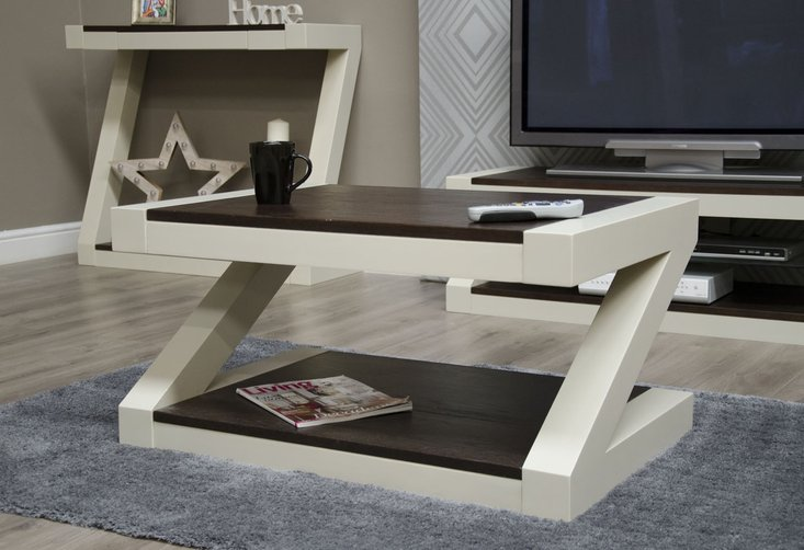 Photo of Z painted coffee table with wenge oak top