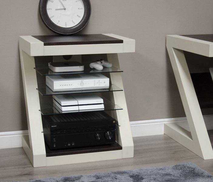 Photo of Z painted hifi cabinet with wenge oak top