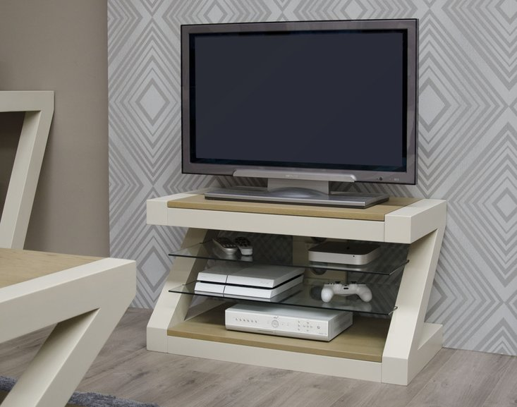 Photo of Z painted tv cabinet with smoked oak top