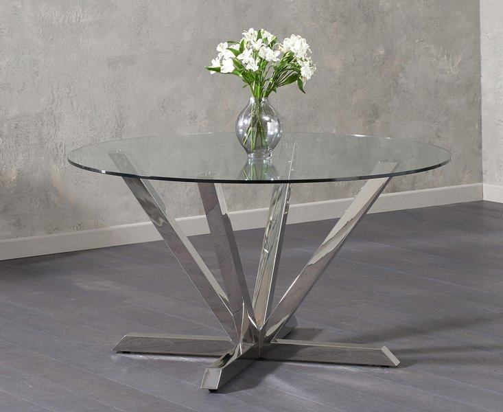Photo of Ray round glass dining table