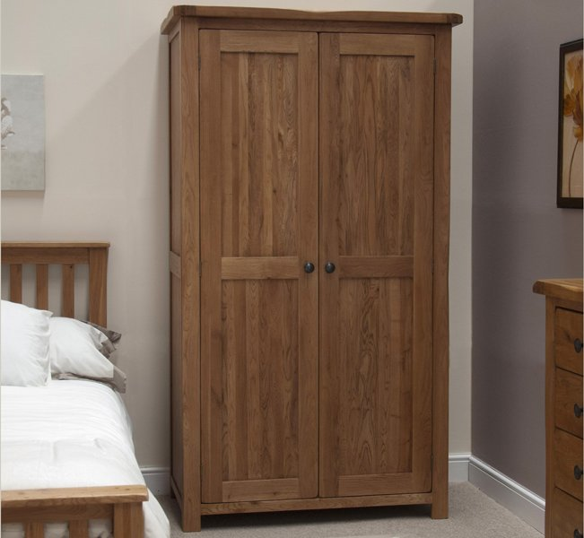 Photo of Rustic oak double wardrobe