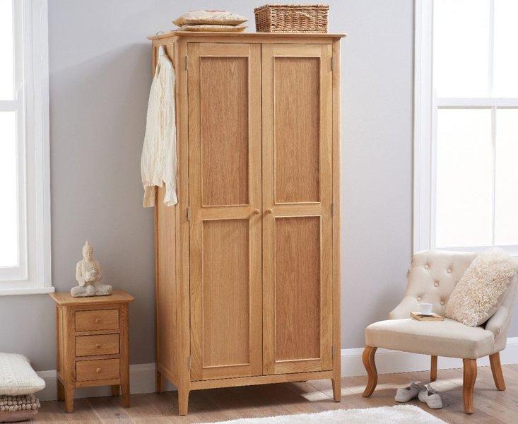 Photo of Suri oak two door wardrobe