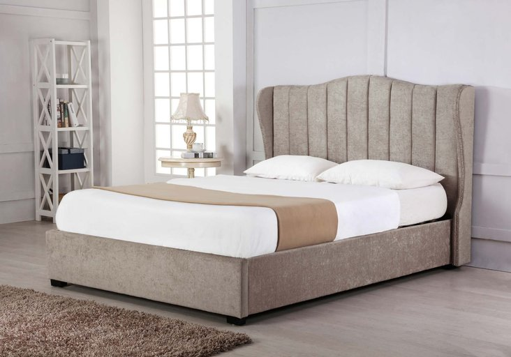 Photo of Sherwood stone fabric ottoman king size bed