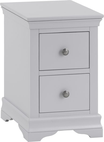 Photo of Simon grey 2 drawer bedside table
