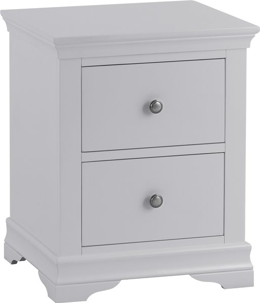Photo of Simon grey large 2 drawer bedside table