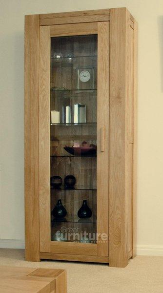 Photo of Trend 190cm oak glazed display cabinet