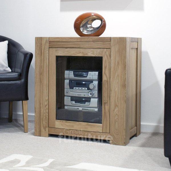 Photo of Trend oak glazed hi-fi unit