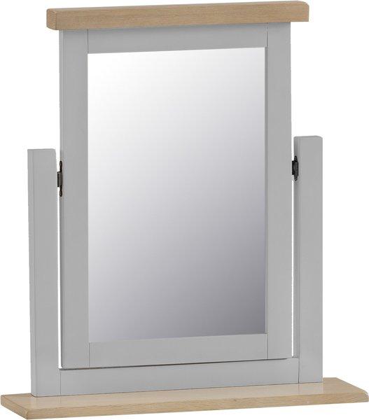 Photo of William oak and grey trinket mirror