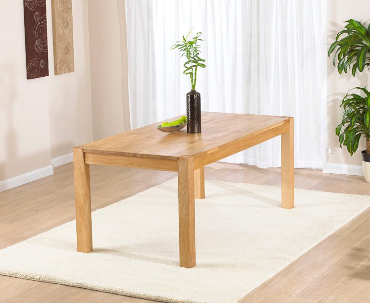 Photo of Verona 120cm oak dining table