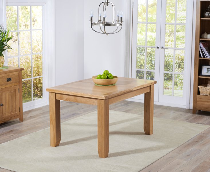 Photo of Yateley 130cm oak extending dining table