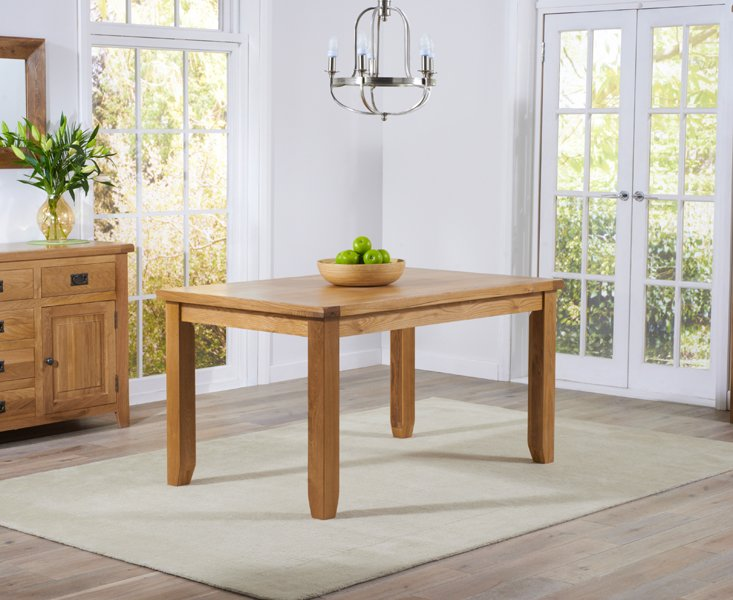 Photo of Yateley 140cm oak dining table