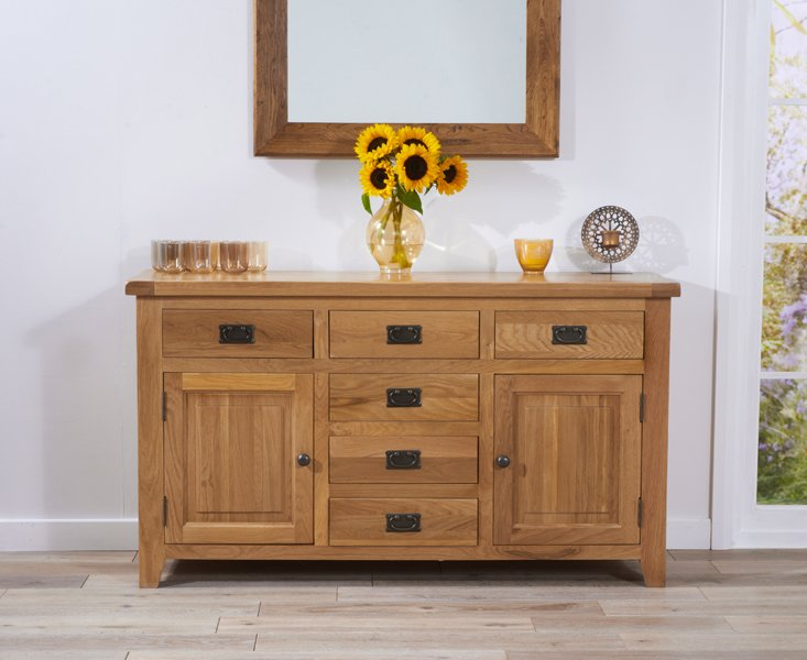 Photo of Yateley 150cm oak sideboard