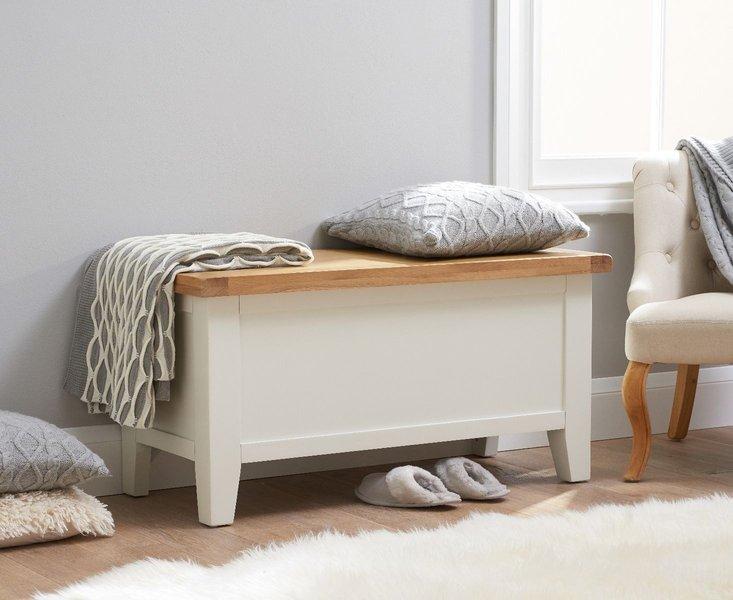 Photo of Eden oak and white blanket box