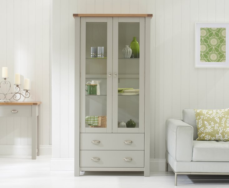 Photo of Somerset oak and grey display unit