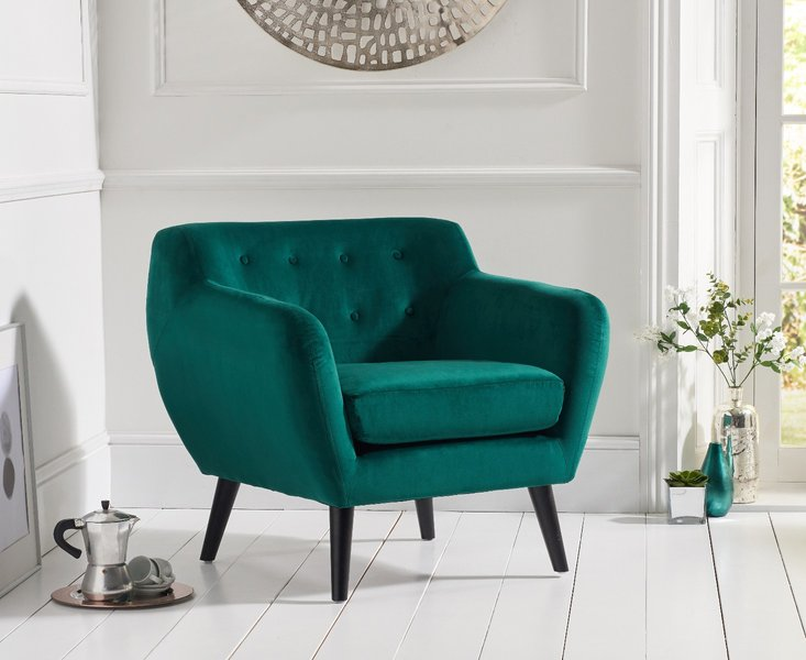 Photo of Tim green velvet accent chair