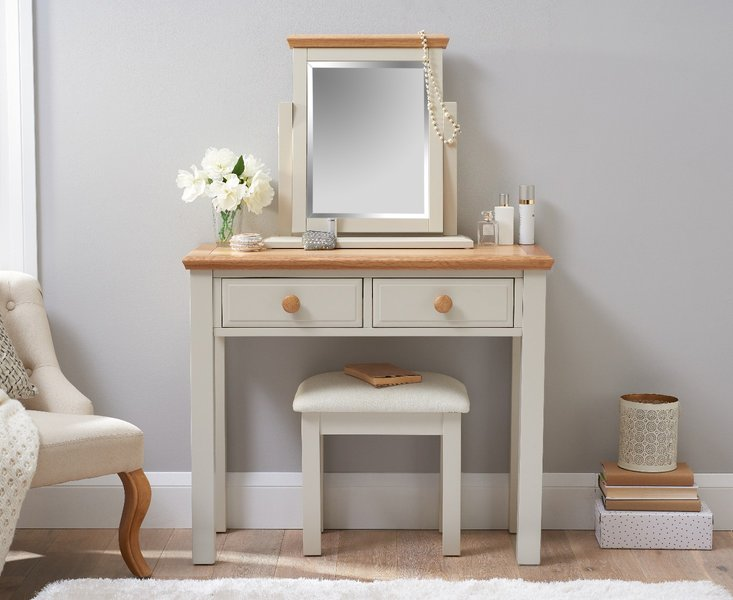 Photo of Abel oak and stone painted dressing table