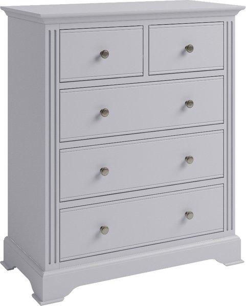 Photo of Aubrey grey 2 over 3 drawer chest