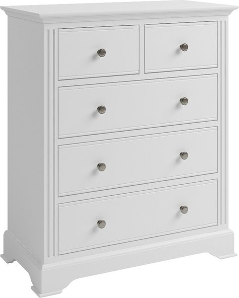 Photo of Grace white 2 over 3 drawer chest