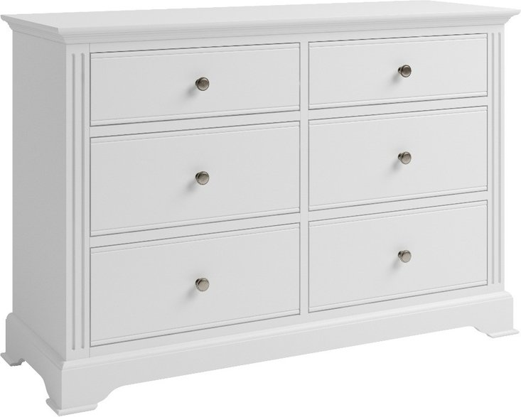 Photo of Grace white 6 drawer chest