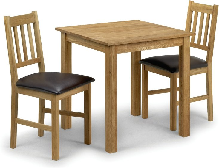 Photo of Banbury oak kitchen table with 2 chairs