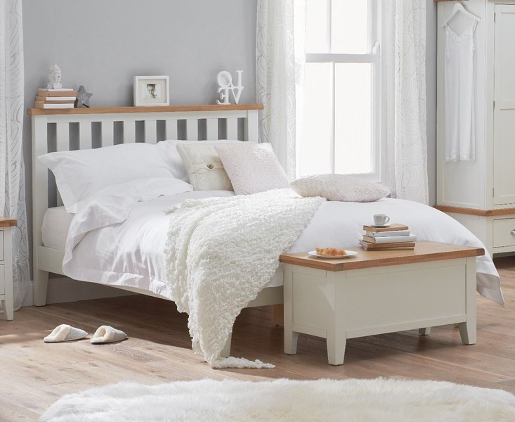 Photo of Eden oak and white super king size bed