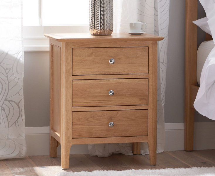Photo of Sadie oak large bedside table