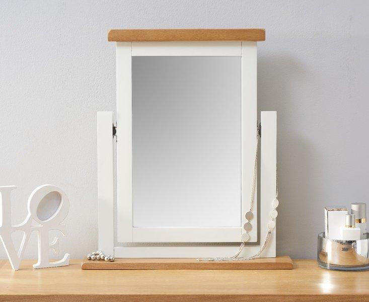 Photo of Eden oak and white trinket mirror