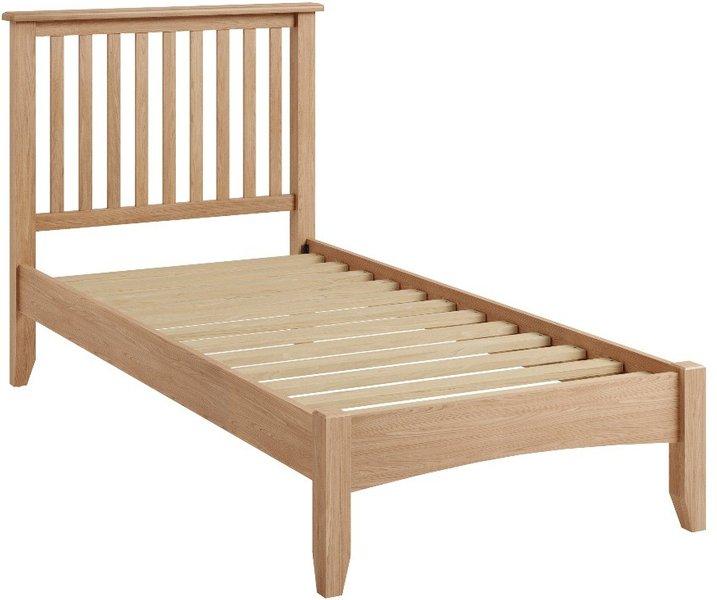 Photo of Skylar light oak single bed