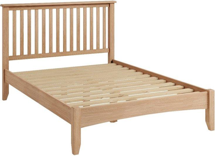 Photo of Skylar light oak king size bed