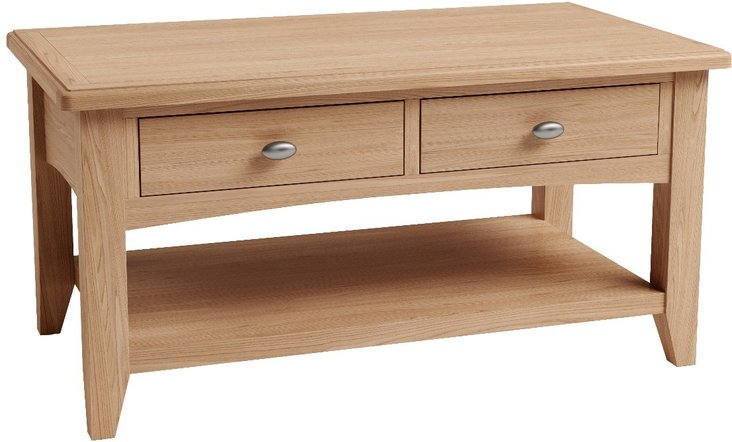 Photo of Dante large solid oak coffee table