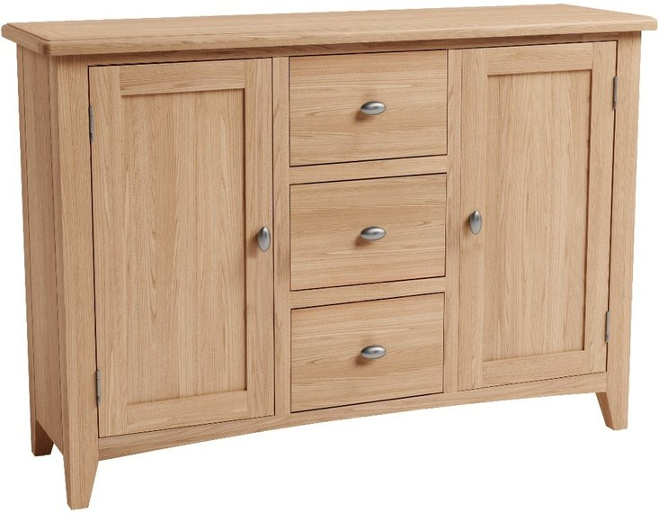 Photo of Dante large solid oak sideboard