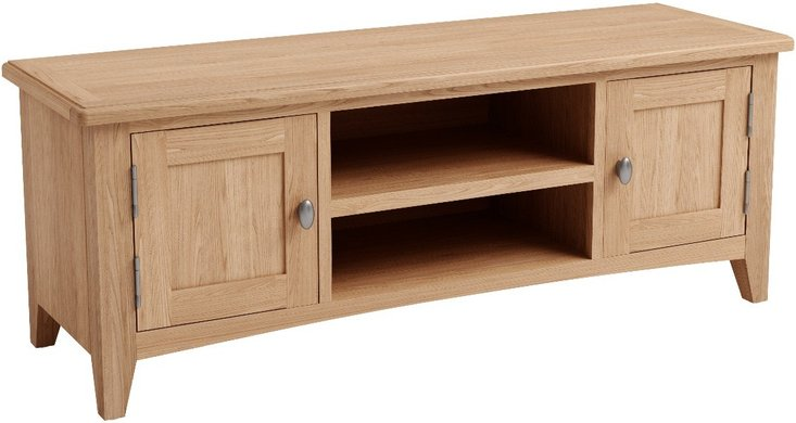 Photo of Dante solid oak large tv unit
