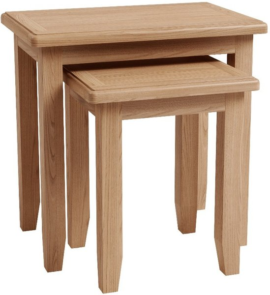 Photo of Dante nest of 2 solid oak tables