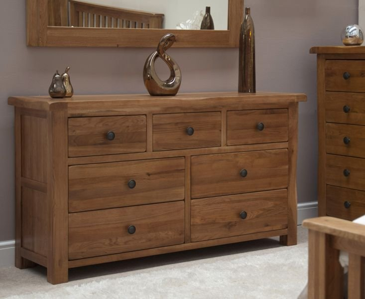 Photo of Bramley oak 7 drawer chest