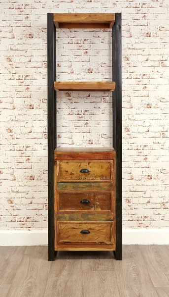 Photo of Downtown modern alcove bookcase -with drawers-