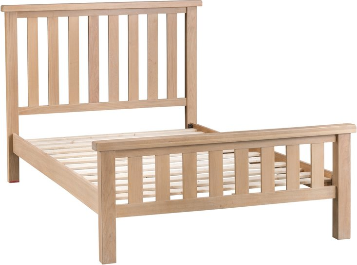 Photo of Rose oak kingsize bed frame