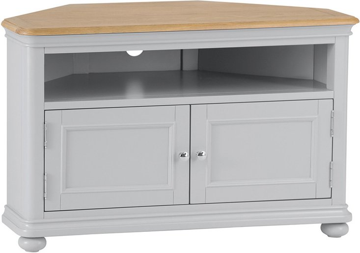 Photo of Holly oak and grey corner tv unit