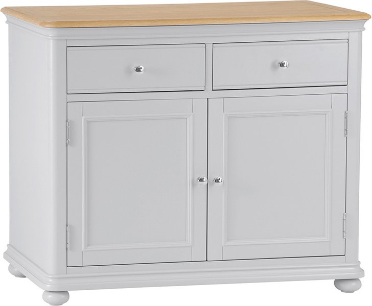 Photo of Holly oak and grey sideboard